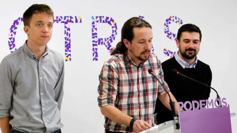 Iñigo Errejón, Pablo Iglesias e Ramón Espinar