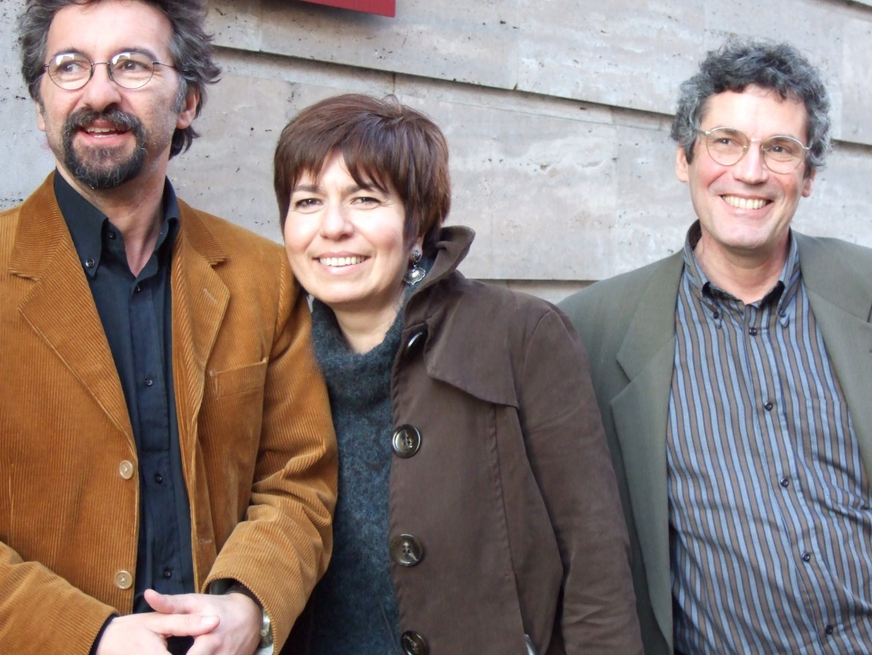 Francesco Paternò con Angela Pascucci e Astrit Dakli (scomparso nel 2016)
