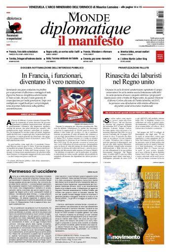 Le Monde diplomatique di aprile 2018