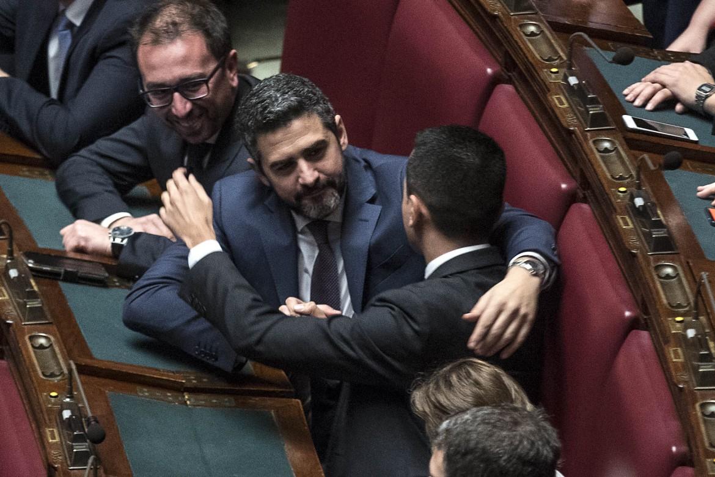 Alfonso Bonafede (giustizia), Riccardo Fraccaro (rapporti con il parlamento) e Luigi Di Maio