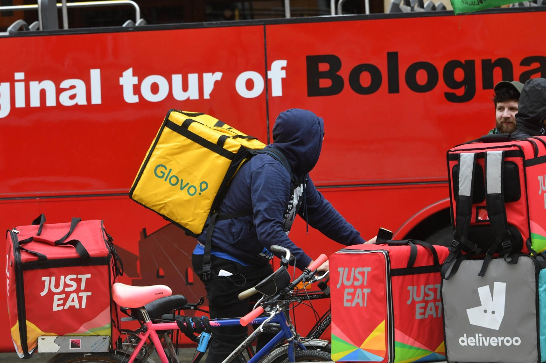 Un rider a Bologna