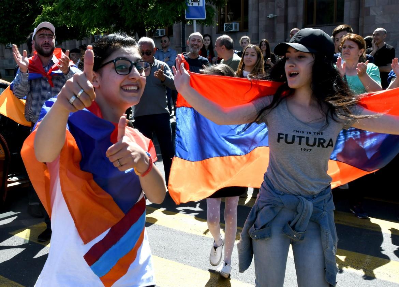 Le manifestazioni in Armenia