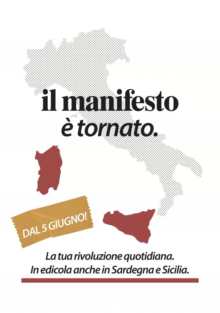 dal 5 giugno il manifesto in edicola sicilia e sardegna