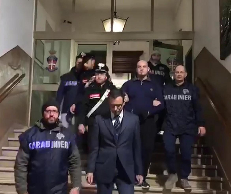 L'arresto di Luca Traini il 3 febbraio scorso a Macerata