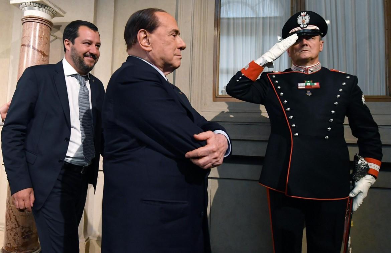 Matteo Salvini e Silvio Berlusconi al Quirinale il 7 maggio scorso