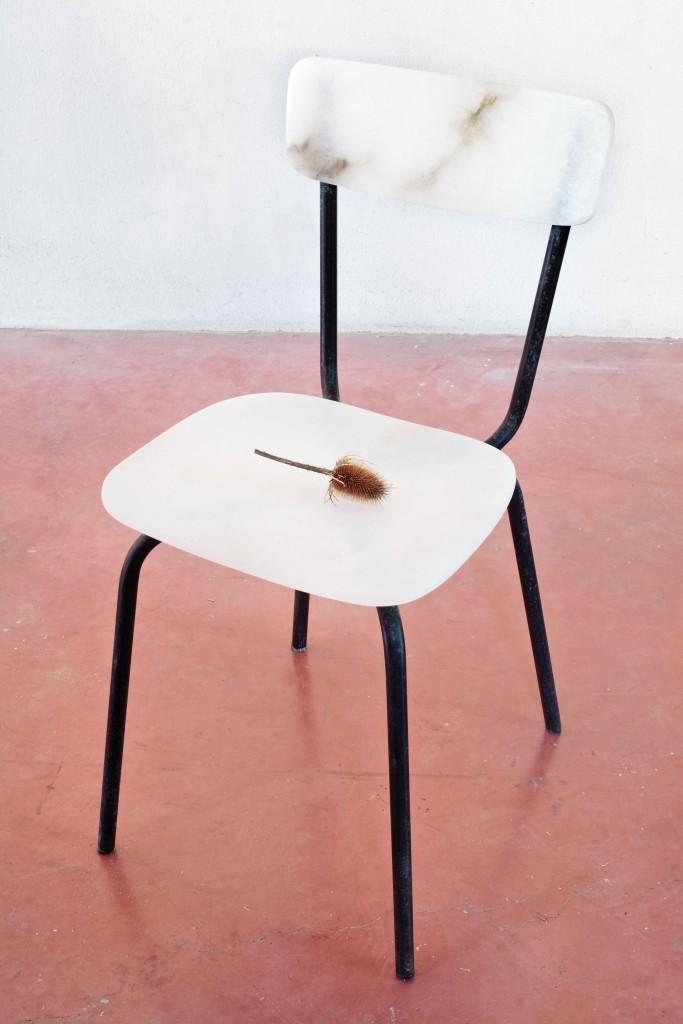 Massimo Bartolini, Chair, 1997, fotografia di Mariangela Insana