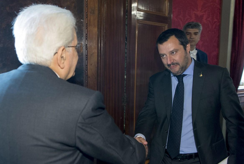 Sergio Mattarella riceve Matteo Salvini al Quirinale