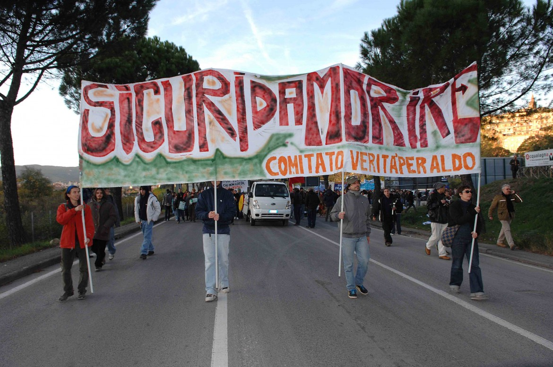 manifestazione per le vittime ad opera delle forze dell'ordine
