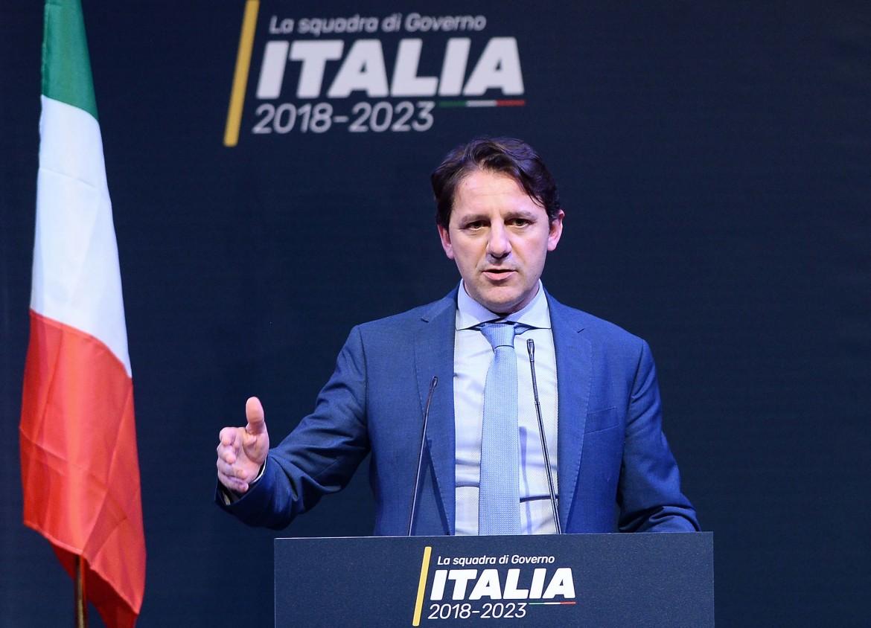 1 marzo 2018, Pasquale Tridico alla presentazione della «squadra di governo» M5S
