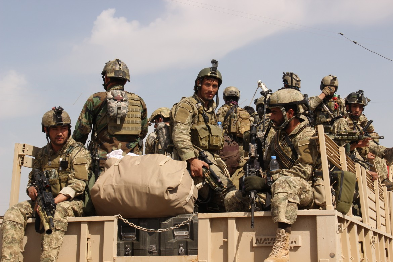 Soldati dell'esercito afghano