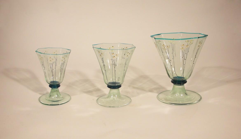 Vittorio Zecchin, bicchieri, Roma 1921-'23, collezione eredi Gallenga