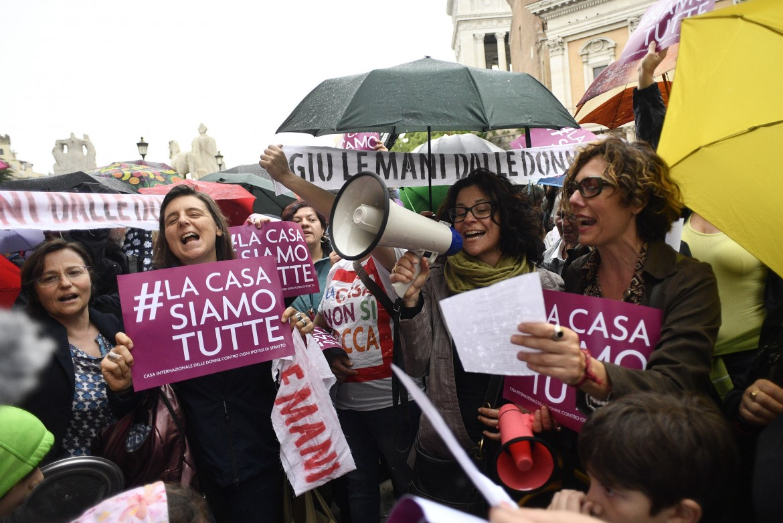 Roma, la manifestazione in Campidoglio