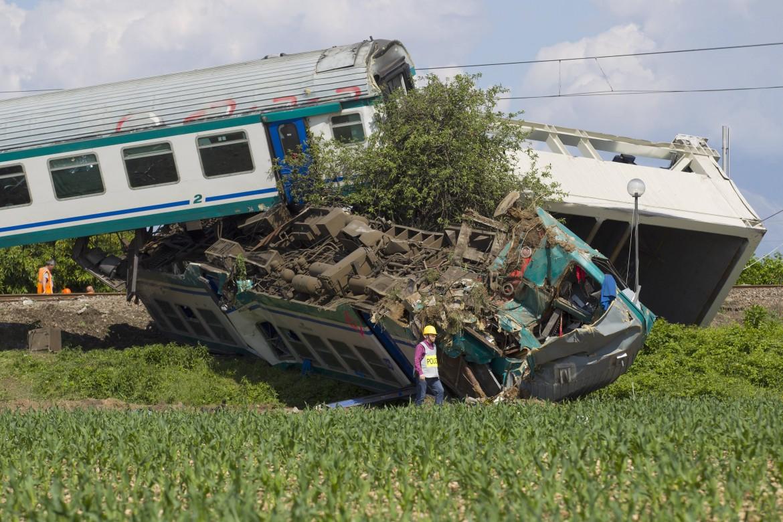 L'incidente ferroviario di ieri a Caluso, nel torinese