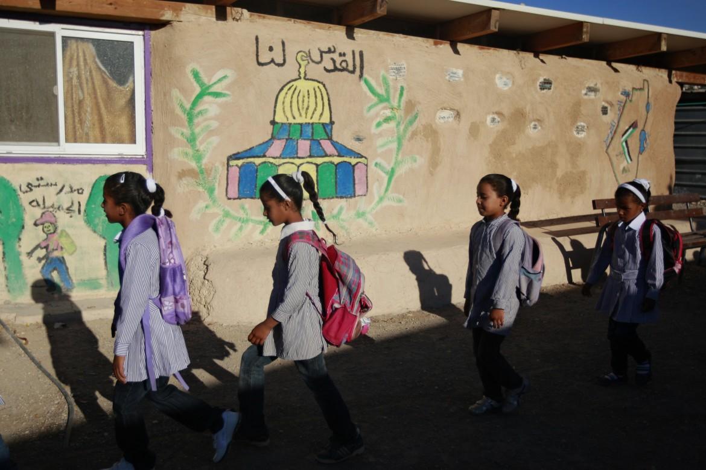 La Scuola di gomme a Khan al Ahmar