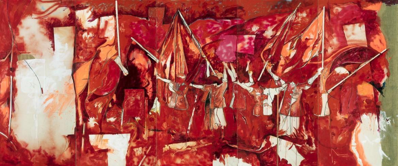Mario Schifano, Festa cinese (particolare) 1968