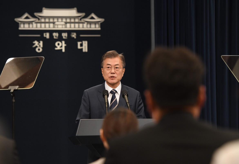 Il presidente sudcoreano Moon Jae-in