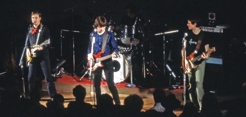 Gli Xtc in un concerto degli anni '80