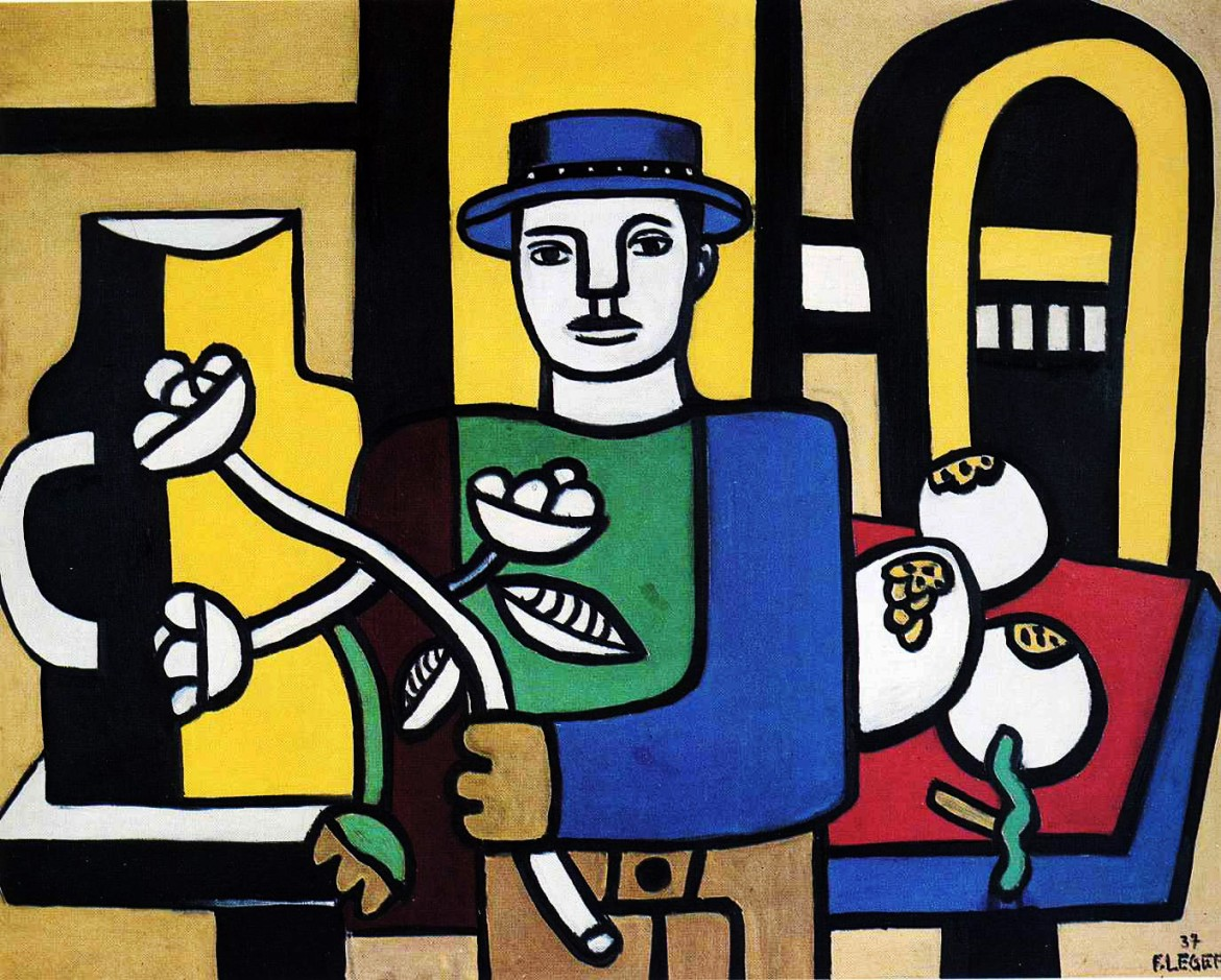 Fernand Léger,  The man in the blue hat, 1937