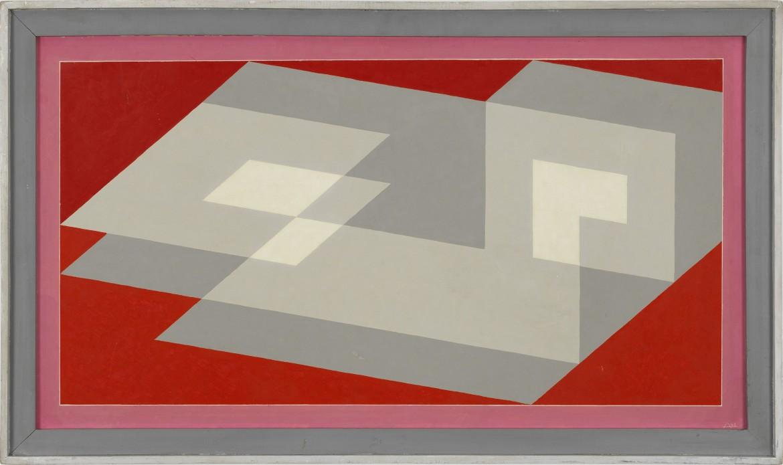 Josef Albers, Tenayuca I, 1942, olio su masonite, The Josef and Anni Albers Foundation
