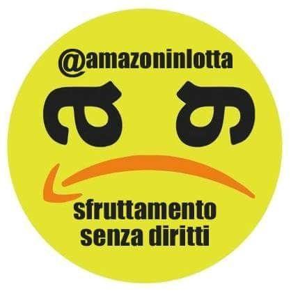 Il logo della lotta globale dei sindacati contro Amazon
