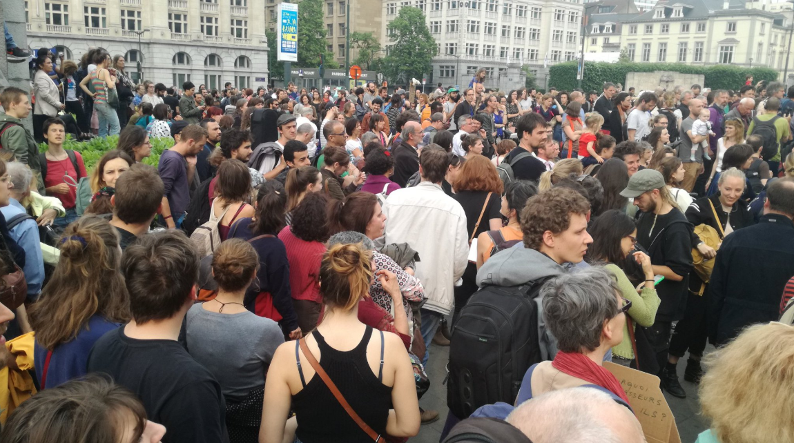 Sit-in per Mawda, ieri a Bruxelles