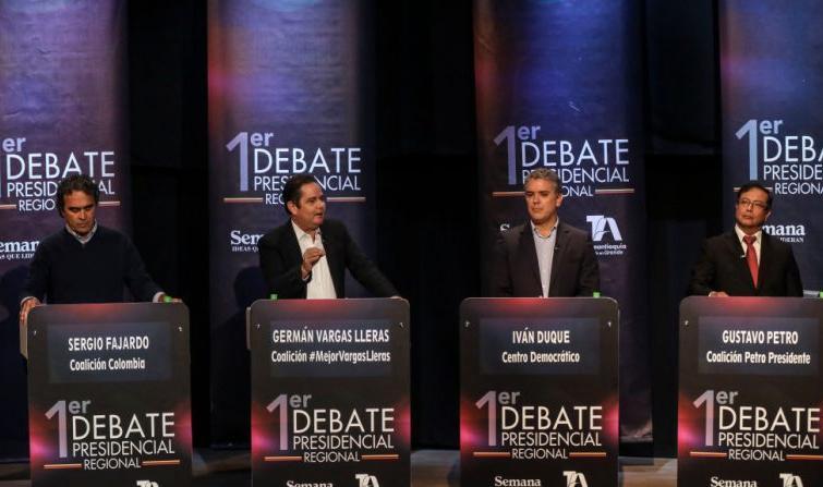 I quattro candidati principali alla presidenza della Colombia