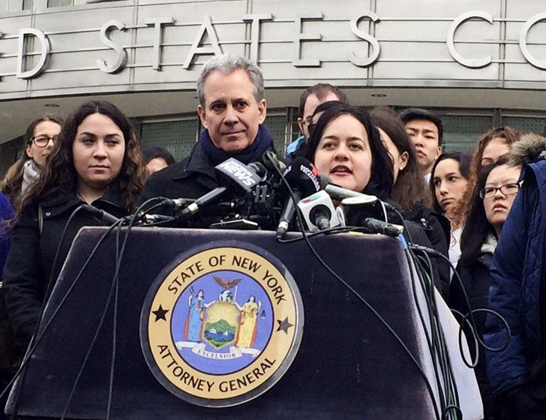 Il procuratore generale democratico di New York, Eric Schneiderman