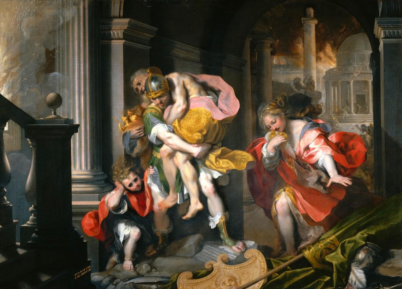 Federico Barocci, Fuga  di Enea da Troia, 1598, Roma, Galleria Borghese