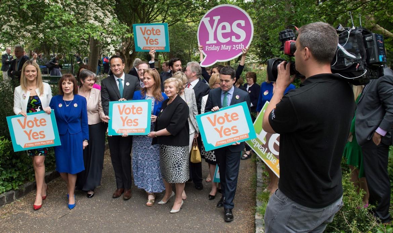 Campagna per il Sì al referendum del primo ministro Leo Varadkar