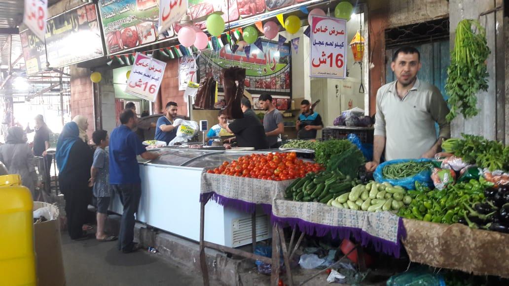 Gaza. Il mercato di Jabaliya
