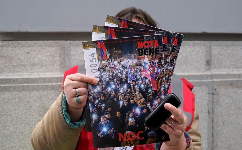 Sulla copertina dello street magazine slovacco Nota Bene la manifestazione che chiedeva le dimissioni del premier