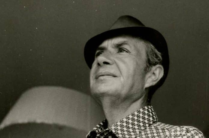 Un'immagine inedita del presidente della Democrazia Cristiana, Aldo Moro