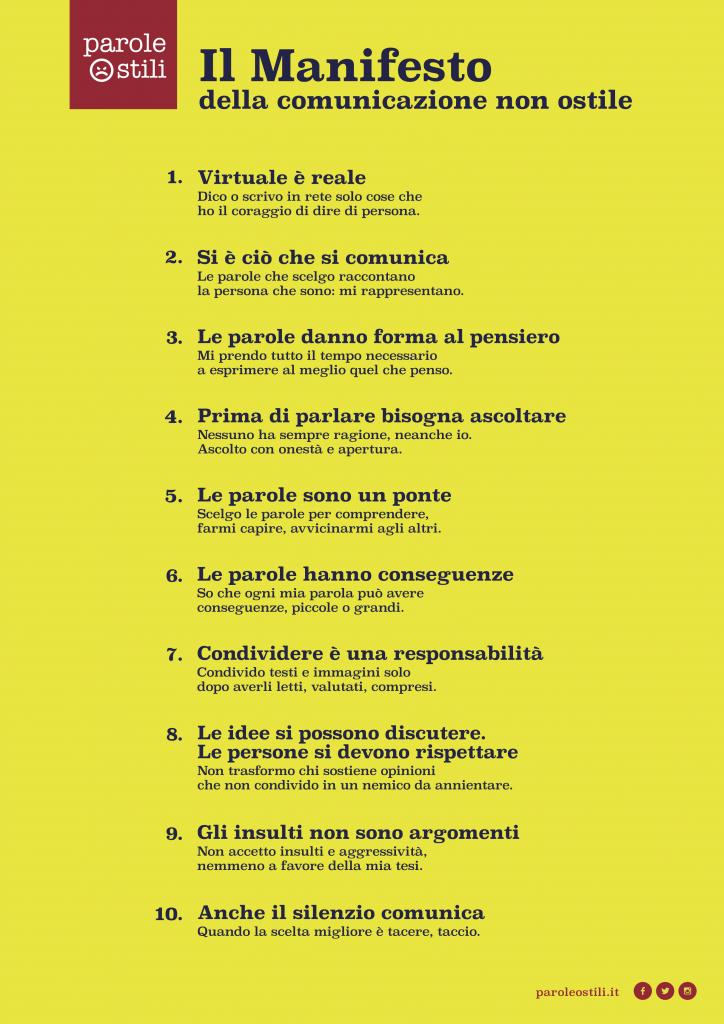 Manifesto di incontri online
