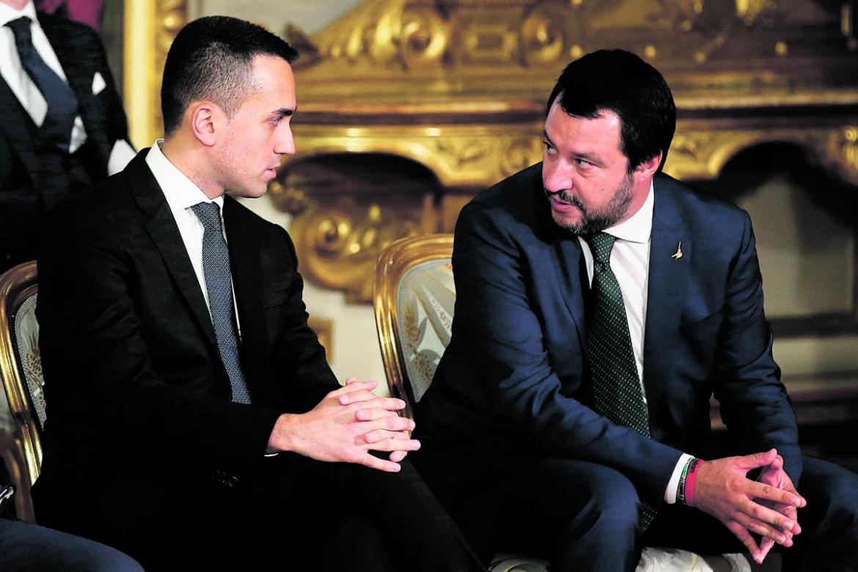 Luigi Di Maio e Matteo Salvini al Quirinale