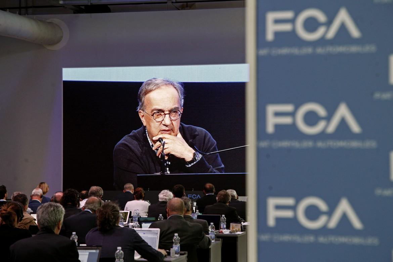 Sergio Marchionne alla presentazione del piano industriale