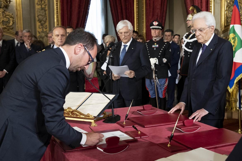 Il neo ministro pentastellato Alfonso Bonafede