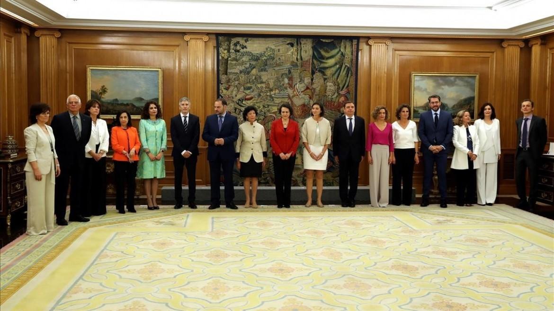 Il «Consiglio delle ministre e dei ministri» del governo Sánchez, sotto Pablo Iglesias