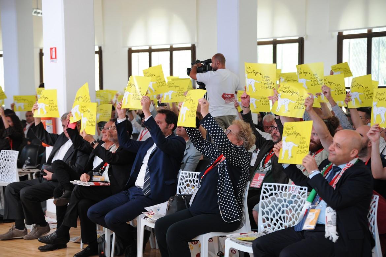 Un'immagine dal congresso dell'Arci che si sta tenendo a Pescara