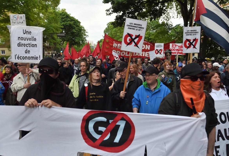 Manifestazione anti-G7 a Quebec City