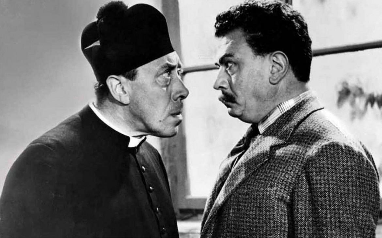 Gino Cervi e Fernandel nel celebre sceneggiato Rai sui racconti di Guareschi