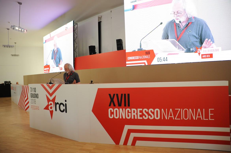 Un'immagine dal congresso Arci in corso a Pescara