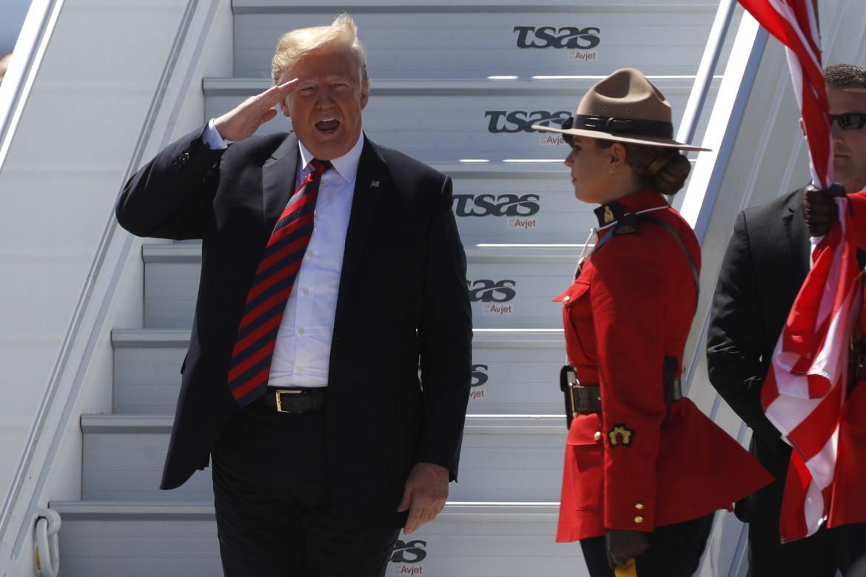 Trump al G7 in Canada