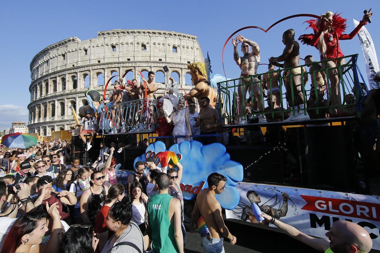 Un momento del Roma Pride 2018
