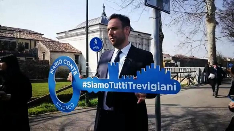 Il nuovo sindaco di Treviso Mario Conte