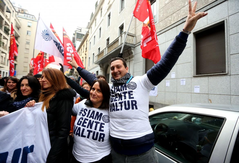 Protesta dei lavoratori Valtur