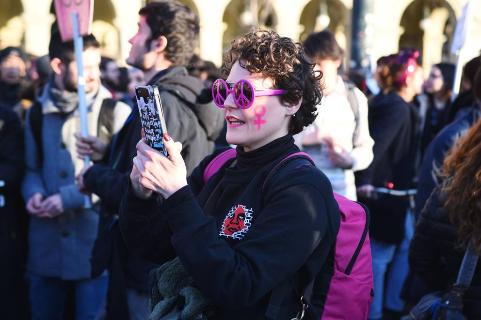 Lavinia Cassaro in una manifestazione