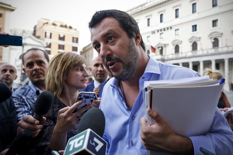 Il vicepremier e ministro dell'Interno Matteo Salvini (Lega)
