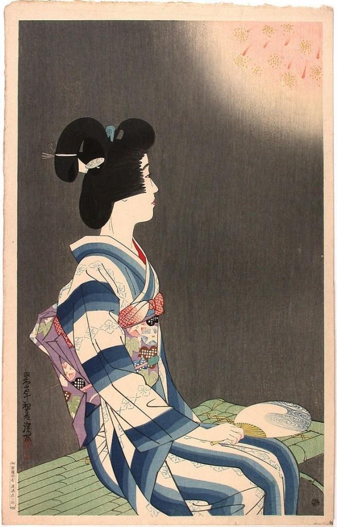 Ito Shinsui, «Fireworks», 1932
