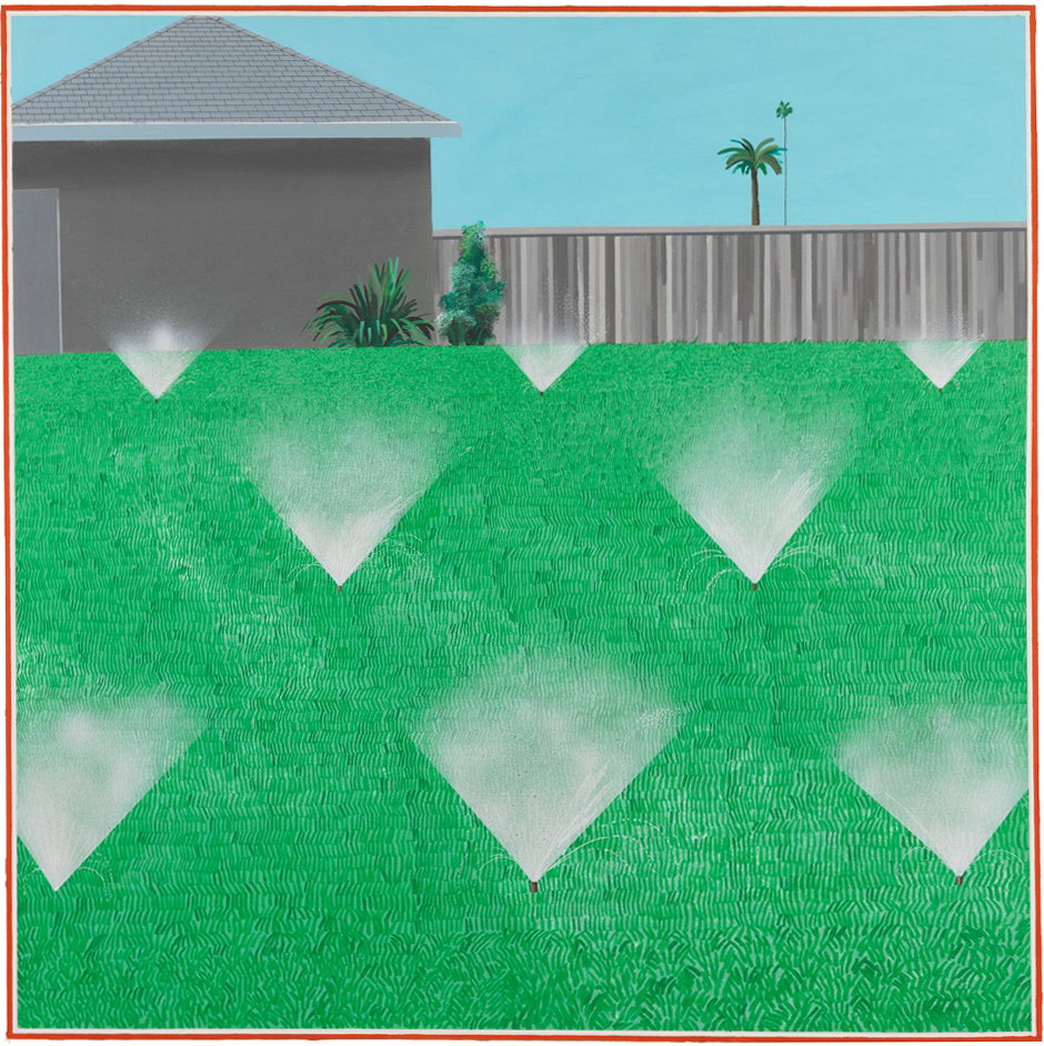 David Hockney,  A Lawn Being Sprinkled, 1967, Lear Family Collection, foto  di Richard Schmidt