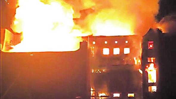 L?incendio alla School of Art